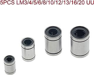 LM10UU CNC//Prusa Mendel//Reprap//rodamiento lineal lineal junta de cuerpo de acero para impresora 3D 5 piezas LM5UU//LM6UU//LM8UU//LM12UUU-LM20UU rodamiento de bolas lineal de goma