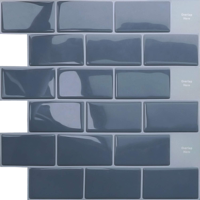 Amazon Apsoonsell 立体 タイルシール 高品質 3d 壁紙 タイル 30 5 30 5cm 4枚セット 防水 耐熱 リフォームシート 洗面所 キッチン トイレ 凹凸 壁紙 シール 賃貸ok グレー 壁紙