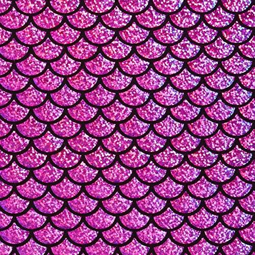Fabulous Fabrics Folienjersey Rotviolett, Karneval, 142cm breit – Jersey zum Nähen von Karnevalskostümen, Tops und Hosen – Meterware erhältlich ab 0,5 m