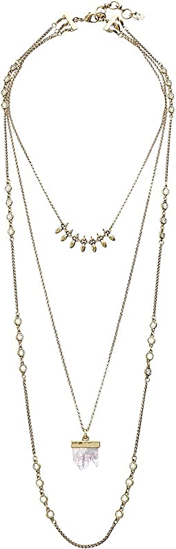 Lucky Brand - Druzy Lucky Layer Necklace