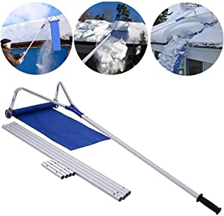YANGLIUYL Roof Snow Rake Removal Tool with Adjustable Telescoping Handle Roof Snow Rake Removal Tool Adjustable Extendable 20 Ft Relieve Your House of The Heavy Snow