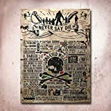 The Goonies Treasure Map Movie Poster Tin Sign,Vintage Retro Meal Signs Pub Coffee Home Wall Signs 8X12 inches