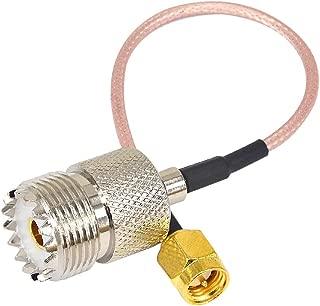 BOOBRIE SMAコネクタ 同軸ケーブル SMAオス-UHFメス 変換コネクタ SO239/PL259 アンテナケーブル 延長ケーブル 低損失 15cm