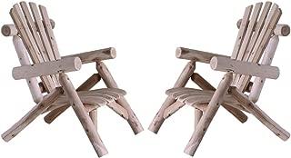 Lakeland Mills Cedar Log Patio Lounge Chair Set of 2