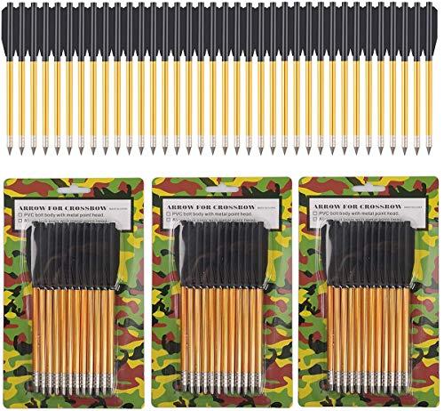 PMSM Aluminium Armbrust Pfeile mit Schlagschrauben, 50 bis 80 LBS für Jagd, Pistolenarmbrust,Armbrustbolzen, Präzisions-Zielscheibe, Bogenschießen (36 Stück)