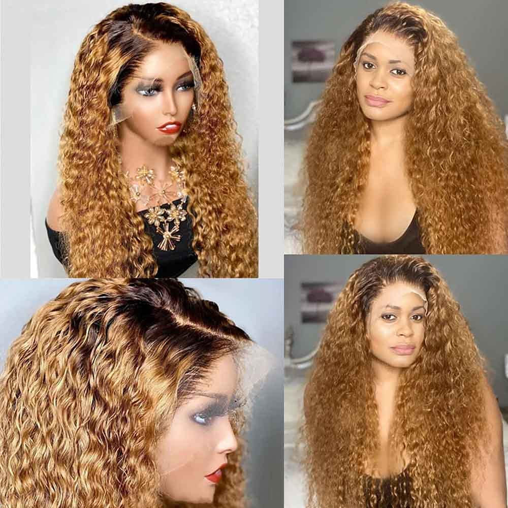 Nabeauty Ranking TOP19 Ombre Curly Lace Front Outlet ☆ Free Shipping Wig T Part 13×6 Hair Human