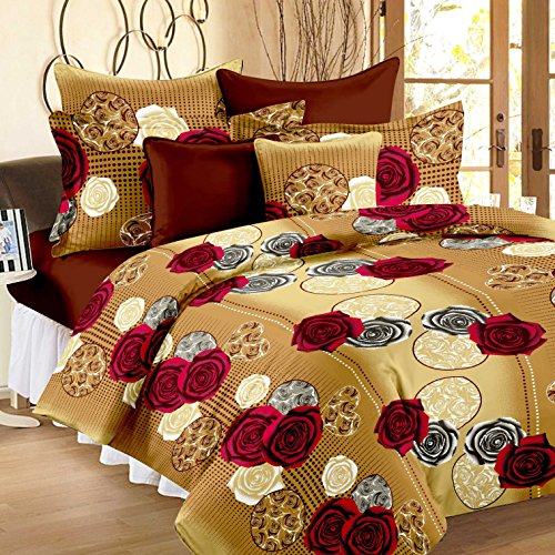 Story@Home Candy 100 % Jaipuri Home Bedsheets for Double Bed Cotton, Green