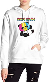 VJJ AIDEAR Pan Duh Pansexual Women's Sweater Printed Hoodied Long Sleeve Coat