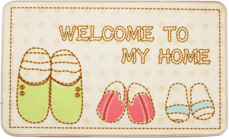 Door mat,Entrance Rug Front Door Rug Bathroom Welcome mats for Indoor Outdoor Floor mat-White 100x100cm(39x39inch)