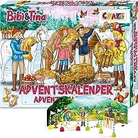 CRAZE Adventskalender 2020 BIBI & TINA Pferde Spielfiguren Set Pferdefiguren Spielset für M?dchen und Jungen 24676