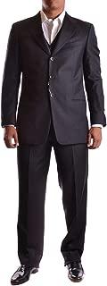 Luxury Fashion Mens MCBI19109 Grey Suit | Season Outlet