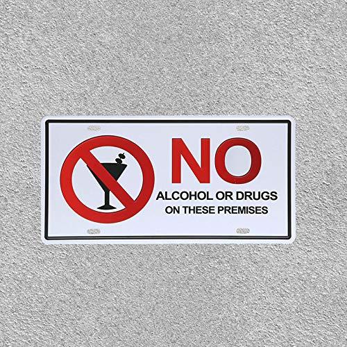 Peligro, no Molestar, Advertencia, Cartel de Chapa de Metal, Casas Antiguas, Cuidado con los propietarios, Placa de Metal, 15x30 cm, Gris Claro