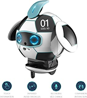 Smart Companion Robot, Intelligent Robot Toy Pet for Kids Children with Obstacle Avoidance Speech Recognition Electric Toys Personal Robot Talking Dancing Singing for Boys Girls