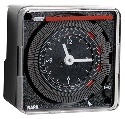 Vemer VP884100 Interruttore Orario Elettromeccanico Napa-D, da Parete o Pannello, Grigio Chiaro