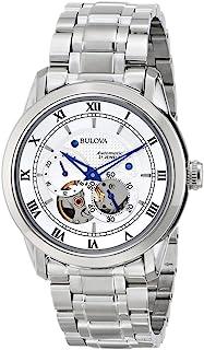 Bulova - Automatic 96A118 - Reloj automático de diseño para hombre - Acero inoxidable - Esfera blanca y manecillas azules