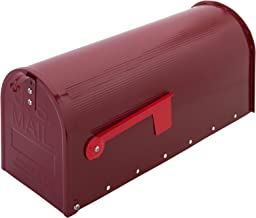 PrimeMatik - Aluminium US Mail brievenbus voor Amerikaanse post rood