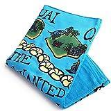 (ヘザーブラウン)HEATHER BROWN BEACH TOWELS・HAWAII MAP・ハワイマップ デザインプリントビーチタオル・ブランケット(ハワイマップ) HB0105MT/HAWAII MAP [並行輸入品]