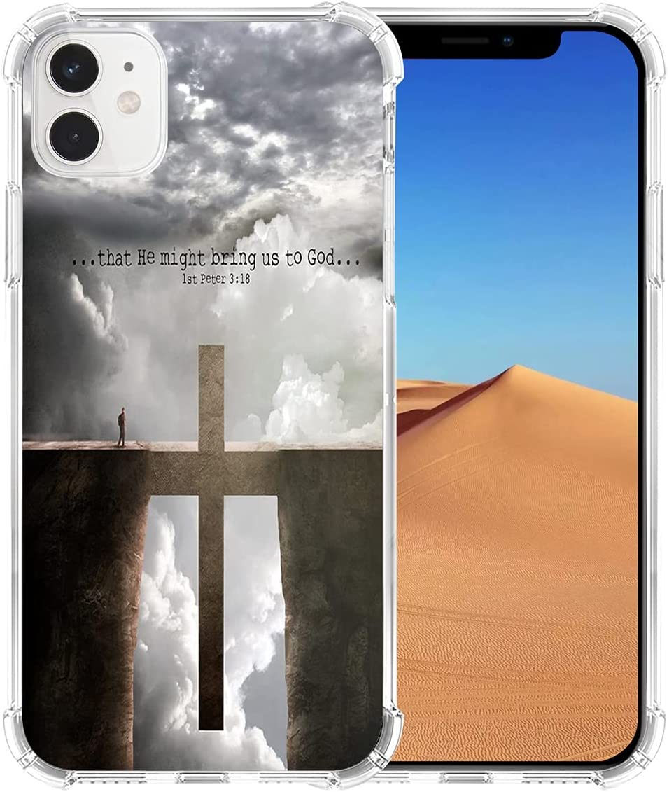 Case for iPhone 11 Christian, Hungo Soft TPU Cover Heavy Duty Protection Compatible with iPhone 11 Christian Bible Verses Lyrics Songs Theme Design Bring Us to God