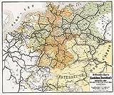 Historische Karte: Deutschland Eisenbahn Netz [Eisenbahnstreckenkarte] 1862 und der angrenzenden Länder - W. Hartmann