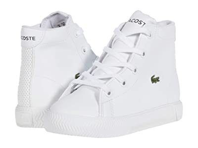 Lacoste Kids Gripshot Mid 0120 2 CUI (Toddler/Little Kid) (White/White) Kid