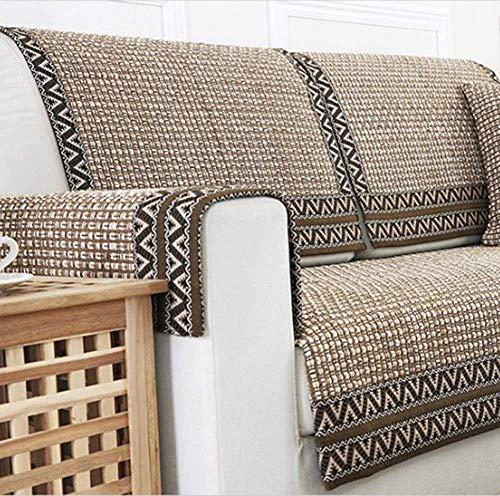 Jonist Funda de sofá Plegable Duradera, Tela de celosía Transpirable Funda de sofá Cojín Decorativo Suave Funda de sofá Protector de muebles-70x120cm (28x47inch)
