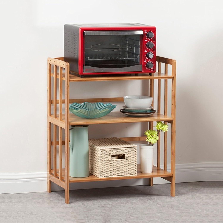 Kitchen Shelf All Purpose Shelving, Tier Serving Trolley,Wood Storage Units Kitchen Storage Racks (Size   55CM)