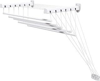 Gimi Lift 100 Tendedero de pared y techo de acero, 6 m de longitud de tendido