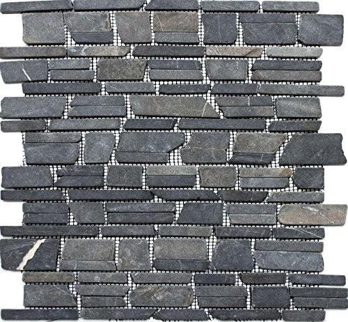 Natura del mosaico di pietra multi formato nero