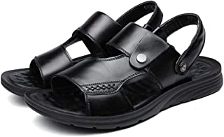 FASHPOOYS Men's Shoes Leather Sandals