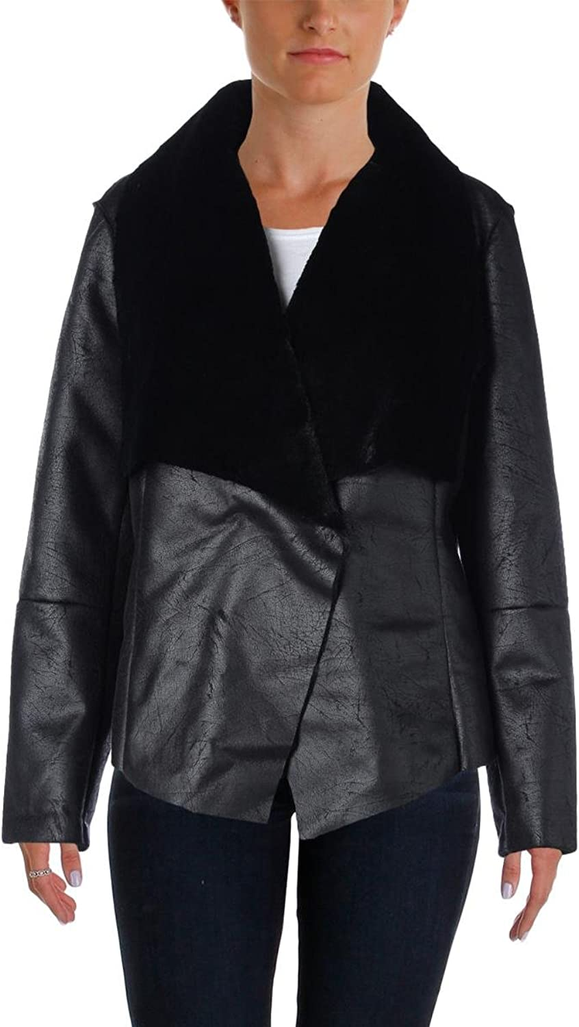 Alfani FauxShearling Jacket Medium Black