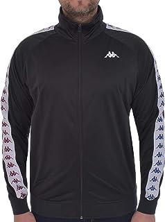 Kappa Mens 222 Banda Anniston Regular Fit Retro Zip Up Track Jacket - Black - S