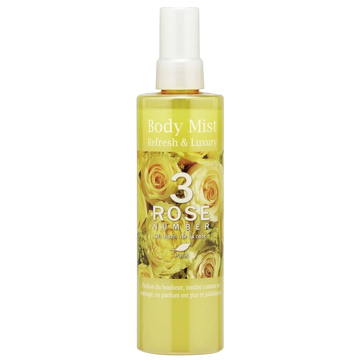 めまいが直面する真空ROSE NUMBER ボディミスト NO3 幸せなバラの香り (250ml)