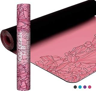 Yoga Design Lab | Esterilla Infinity | Textura y diseño Antideslizante para Alinear y apoyar su práctica. | Ecológica | 5mm | Acolchada | Incluye Cinta!