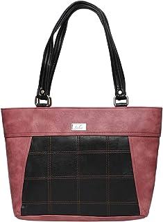 Women Pinkblack Zip Handbags
