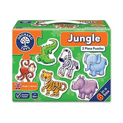 _   Puzzle infantil, diseño de animales de la selva