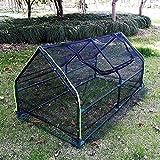 Serres Housse de Serre en Tissu D'ombre Noire, Mini Tente de Protection Contre Les UV...
