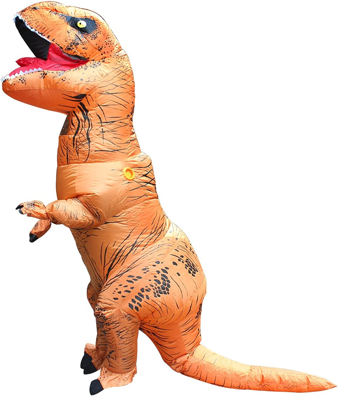 YOWESHOP TRex Inflatable Dinosaur Costume Party Fancy Dress Cosplay Outfit (lightbrown)