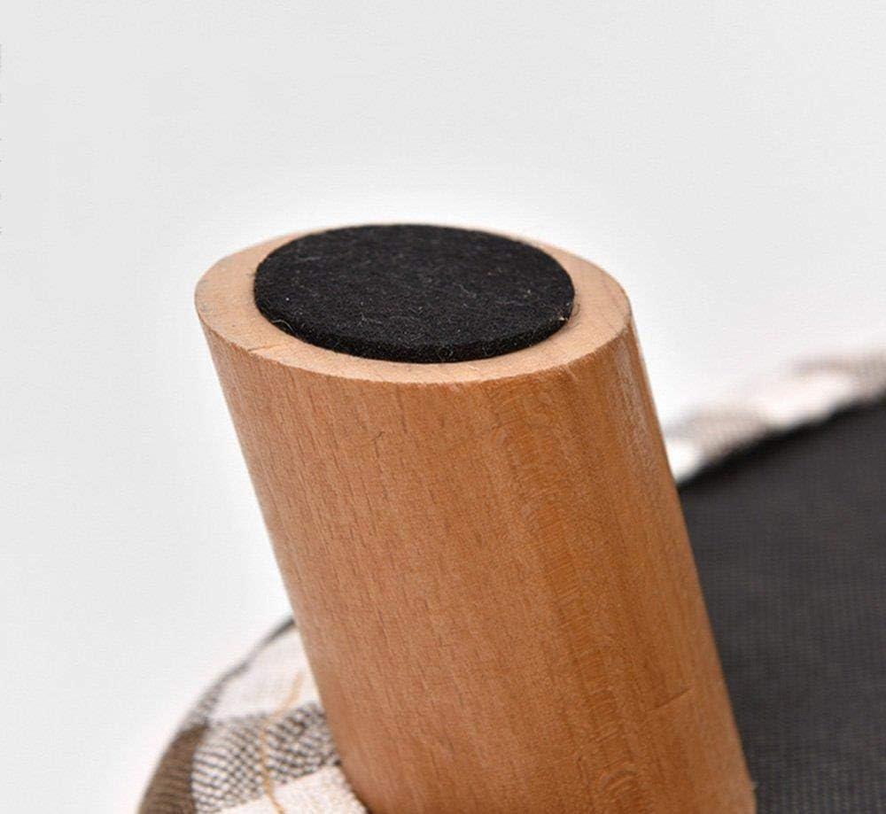 YLCJ Dongy Square Support en Bois Repose-Pieds Pouf Pouf Chaise Chaise Tabouret Repose-Pieds (Couleur: Couleur café) Coffee Color