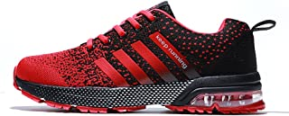 Running Shoes Men - Air Cushion Mens Women Tennis Shoe Lightweight Fashion Walking Sneakers Breathable Athletic Training Sport for Womens