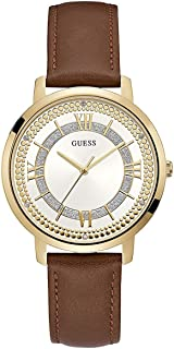Guess Women's White Dial Leather Band Watch - W0934L3