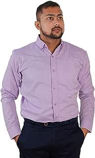 The Modern Darzi Men's Slim Fit Formal Fil-a-Fil Full Sleeves Shirt (S-XXL) (Violet)