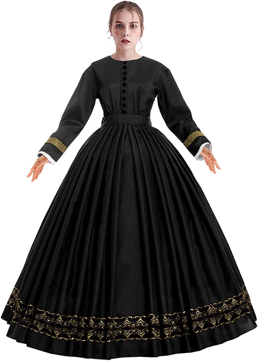 Victorian Dresses | Victorian Ballgowns | Victorian Clothing Women Victorian 1860s Dress with Petticoat Civil War Dress Vintage Costumes  AT vintagedancer.com