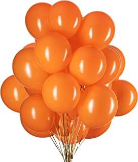YESON 12 Inch Orange Balloons Party Latex Helium Balloon,Pack of 50