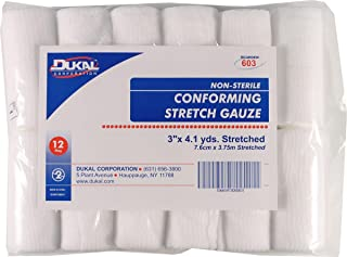 023010 Non-Sterile Conforming Stretch Gauze White, 3inch x 4.1Yard,12 Count