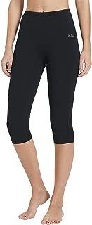 "BALEAF Women's 16""/23"" High Waisted Yoga Capris Power Flex Workout Leggings Inner Pocketed(XS-2X)"