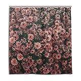My Daily Rosa Blume Duschvorhang,–Schimmelresistent und Wasserdicht Polyester Badezimmer Dekoration, 152,4x 182,9cm, Polyester, multi, 66 x 72