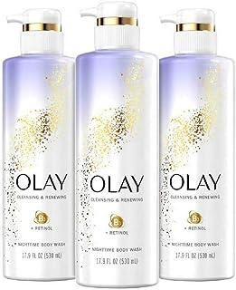 Olay - Cleansing & Renewing Nighttime Body Wash with Retinol - 17.9 fl oz (Pack of 3)