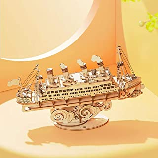 GENERIC TG306 Voyage Cruise Ship 3D Puzzle DIY Hand-assembled Wooden Sailing Model Toys