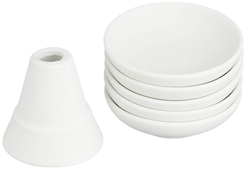 靄幸運ヶ月目【盛塩セット】盛り塩セット 小/素焼き皿5枚付き -