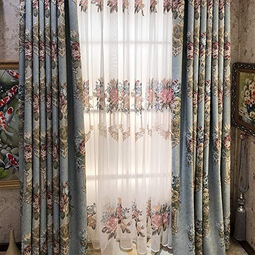 XINSHAN Jacquard Villa Boden Wohnzimmer Schlafzimmer Beschattung und Wärmeisolierung fertig Vorhang